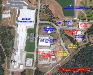 Aerial shot of the Shasta Gateway Industrial Park