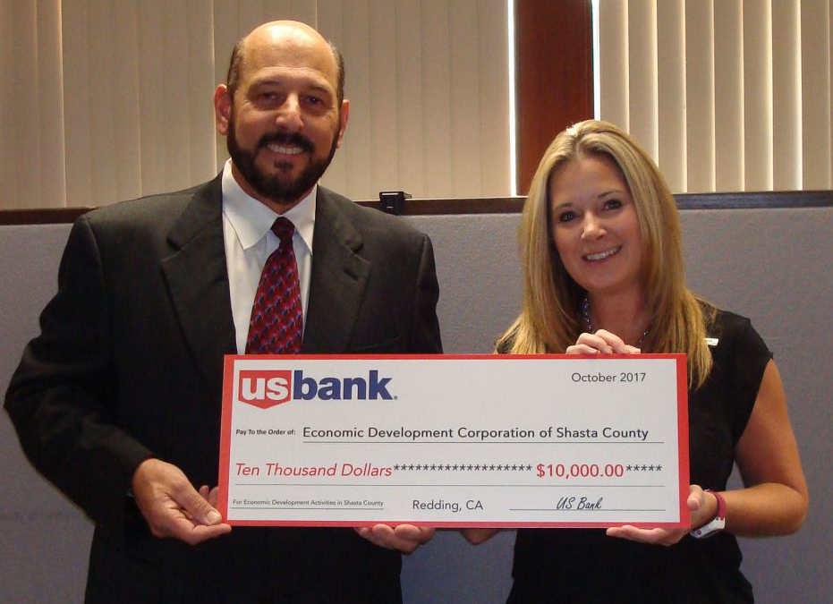 U.S. BANK INVESTS IN THE CONTINUED GROWTH OF OUR LOCAL ECONOMY THROUGH ITS ONGOING SUPPORT OF THE SHASTA EDC