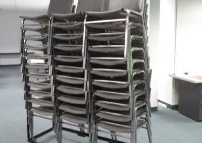 Stacking Chairs on Cart