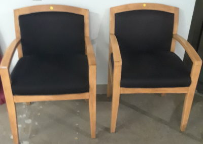 Wood-Fabric Arm Chairs